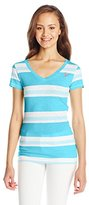U.S. Polo Assn. Junior's V-Neck Striped T-Shirt