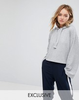 Monki Cropped Oversized Hoodie
