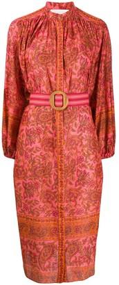 Zimmermann Edie paisley print shirt dress