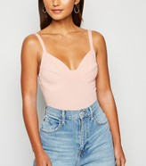 New Look Petite Ribbed Bustier Bodysuit