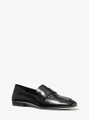 Michael Kors Emory Crinkled Leather Loafer