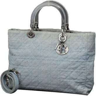 Christian Dior Diorissimo Blue Leather Handbags