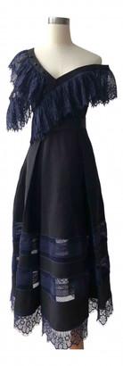 Self-Portrait Navy Polyester Dresses