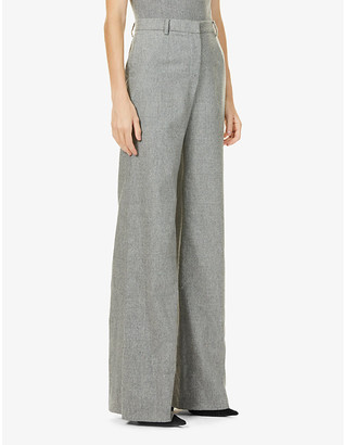 Magda Butrym Wide high-rise stretch-wool and cashmere-blend trousers