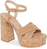 Gianvito Rossi Cork Platform Sandal