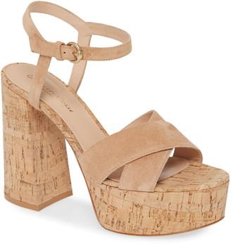 Gianvito Rossi Strappy Cork Platform Sandal