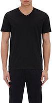 Vince Men's Pima Cotton V-Neck T-Shirt-BLACK
