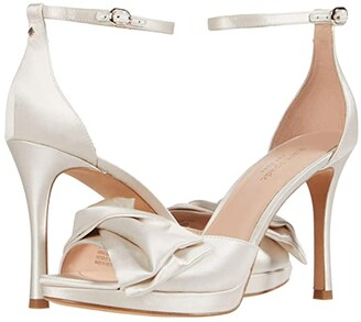 Kate Spade Bridal Bow (Ivory Satin) Women's Shoes