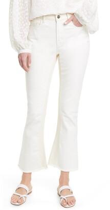 Frame Le Crop High Waist Raw Edge Mini Boot Jeans