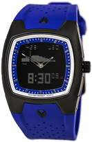 Nixon Men's Super Hero Ii Ti - Pu Anadigi Watch in Color: All Black / Indigo