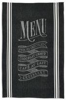 """Sur La Table Parisian Menu Jacquard Kitchen Towel, 28"""" x 18"""""""
