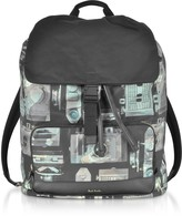 Paul Smith Camouflage Paul's Camera Print Flap Men's Backpack
