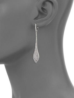 Adriana Orsini Zen Crystal Linear Drop Earrings