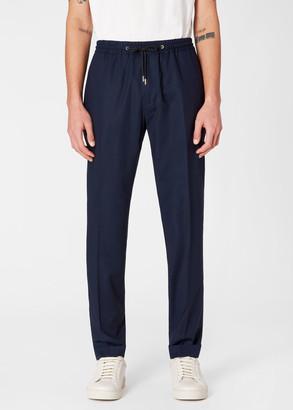 Paul Smith Men's Dark Navy Wool Drawstring Pants