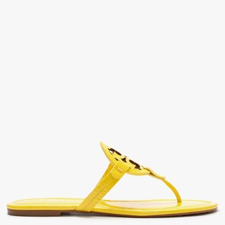 Tory Burch Miller Logo Limone Leather Toe Post Sandals