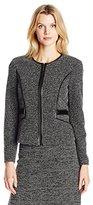 Kasper Women's Tweed Zipper Front Jacket