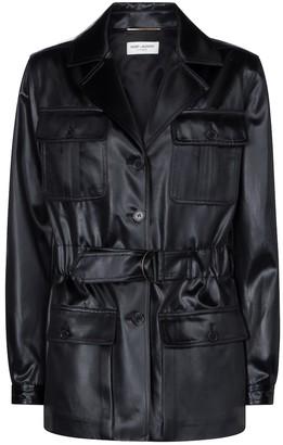 Saint Laurent Faux leather jacket