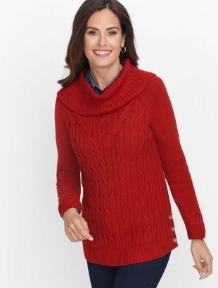 Talbots Cotton Cowlneck Sweater - Solid
