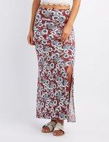 Charlotte Russe Floral Slit Maxi Skirt