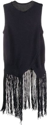 Cédric Charlier Asymmetric Fringed Top