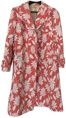 Miu Miu Pink Trench Coat for Women