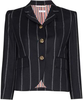 Thom Browne striped wool cropped blazer