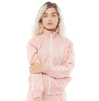 Umbro Womens Active Style Taped Track Jacket Pale Pink
