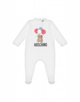 Moschino Balloons Teddy Bear Onesie Unisex White Size 1/3m It