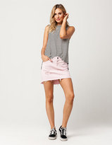 Vanilla Star Premium High-Low Denim Mini Skirt