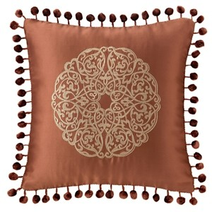 """Waterford Jonet 16"""" X 16"""" Square Collection Decorative Pillow Bedding"""