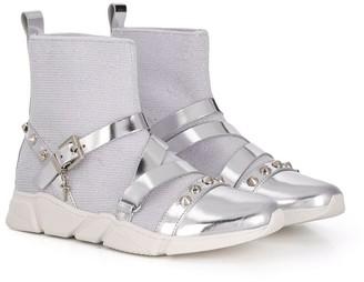 Cesare Paciotti Kids Studded Sneakers
