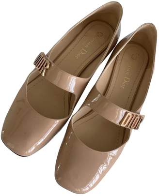 Christian Dior Baby-D Beige Patent leather Heels