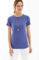 J. Jill Perfect Pima Crew-Neck Shirttail Tee