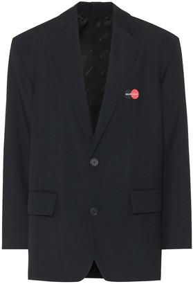 Balenciaga Uniform wool-blend blazer