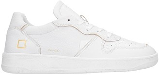 D.A.T.E Court Sneakers In White Leather