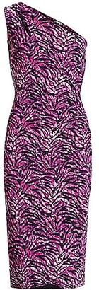 Chiara Boni Gosia Tiger-Print Ruched Sheath Dress