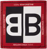 Balenciaga Red Silk BB Scarf