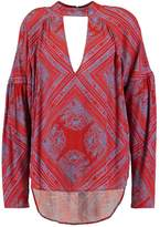 Free People WALKING ON A DREAM Tunic red