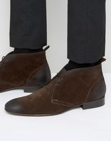 Base London Trader Suede Chukka Boots