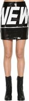 Jeremy Scott High Waist Sequined Mini Skirt