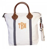 The Well Appointed House Natural Canvas Flight Bag with Gray Accents-Can Be Personalized