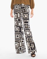 Chico's Deco Square-Print Wide-Leg Pants