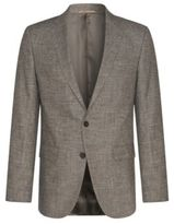 Hugo Boss Nasley Slim Fit, Wool Cotton Sport Coat 40R Beige