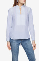 BCBGMAXAZRIA Jola Long-Sleeve Fabric-Blocked Top