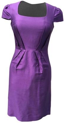 Hobbs Purple Silk Dress for Women