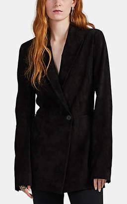The Row Women's Ciel Bonded Suede One-Button Blazer - Black