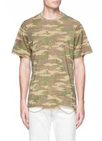 NSF 'Bryce' camouflage print ripped hem T-shirt
