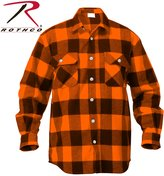 Rothco Men's Extra Heavy Weight Brawny Flannel Shirt -, Brown