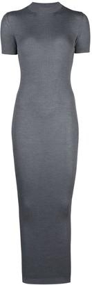 Vera Wang ribbed knit maxi dress