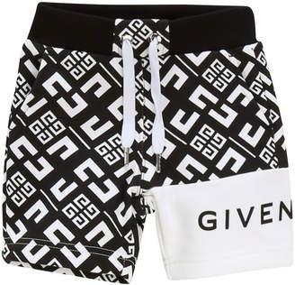 Givenchy Boy's 4-G Printed Drawstring Shorts, Size 12-18 Months